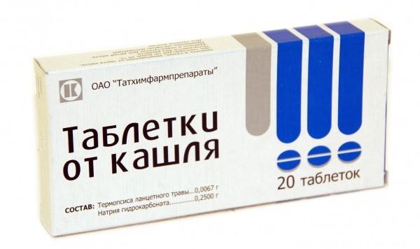 Таблетки Термопсис от кашля: инструкция по применению, механизм действия, как принимать препарат